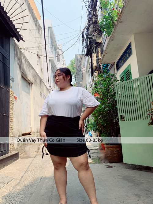 Quần Váy Big Size Thun Co Giãn Dây Rút 60-85kg